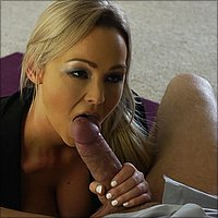 Abbey Brooks sucking hard cock