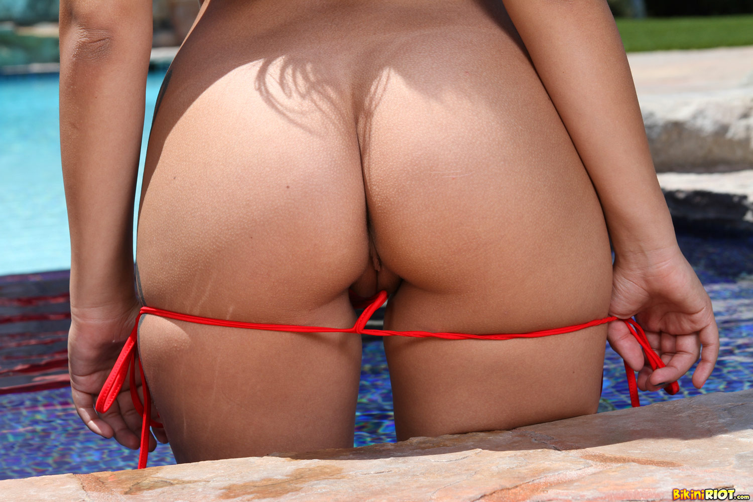 Opinion Micro string bikini ass pussy for
