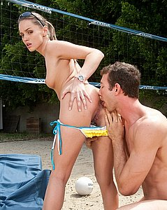 Beach volleyball bikini babe fucks her teammate as a reward
